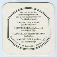 Hainfelder posavasos Página B