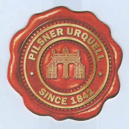 Pilsner Urquell posavasos Página A