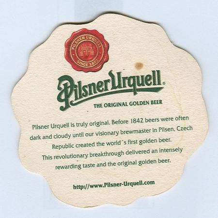 Pilsner Urquell posavasos Página B