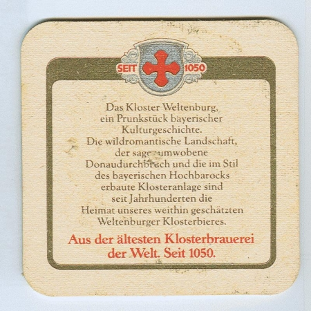 Weltenburger posavasos Página B